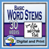 Greek and Latin Roots, Prefixes and Suffixes for Middle School - 30 Weeks