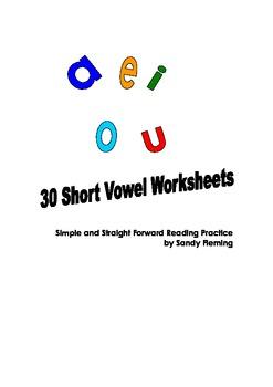 30 Short Vowel Worksheets