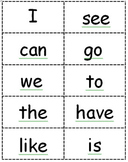 30 Sight Word Flash Cards