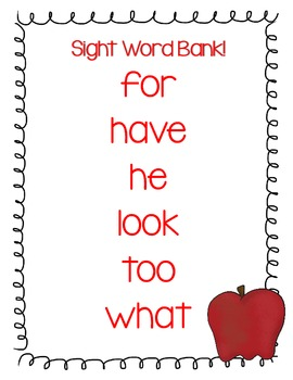 30 Sight Word Scramble Puzzles Back to School & Fall Themed!