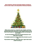 30 Silly Christmas Impromptu Speech Topics for Extra Credi