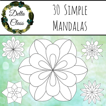 30 Simple Mandala Coloring Pages