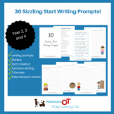 30 Sizzling Start Writing Prompts - Narrative Writing