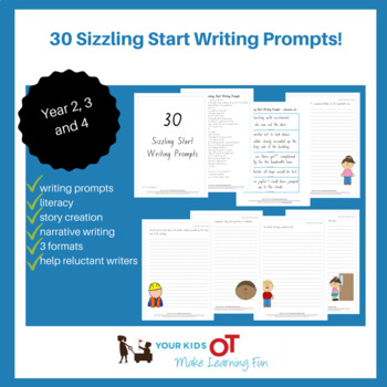 30 Sizzling Start Writing Prompts - Narrative Writing