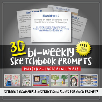 30 Sketchbook Prompts - Examples Included!