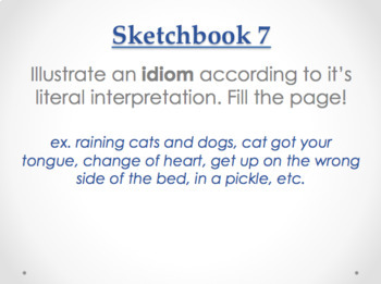 30 Sketchbook Prompts Bundle - Examples Included!