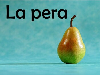 30 Slide Fruits (Las frutas) Power Point in Spanish