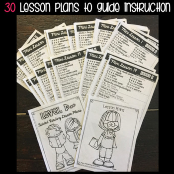 Guided Reading: Level D: NO PREP Lesson Plans & Activities for Small Group