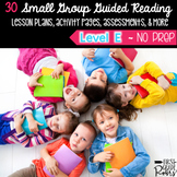 Guided Reading Level E: NO PREP Lesson Plans & Activities for Small Group