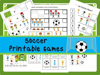 30 Soccer Games Download. Games and Activities in PDF files.