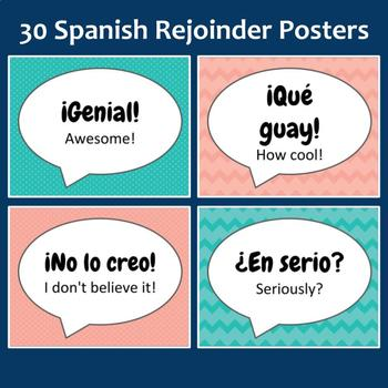 30 Spanish Rejoinder Classroom Posters