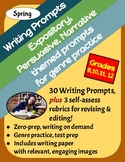 30 Spring Writing Prompts: Expository, Persuasive & Narrative, Grades 9-12