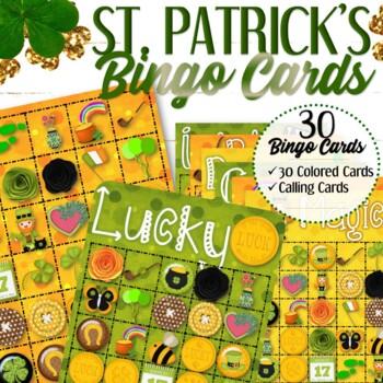 30 St. Patrick Bingo Cards