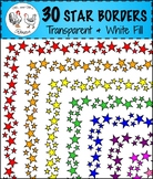 Star Page Borders, Transparent & White Backgrounds, Clip-Art