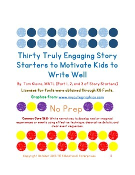 30 Story Starters to Motivate Kids to Write - Compilation of Parts 1, 2, and 3!