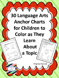 Anchor Charts for Language/Reading Concepts--Black and White Version