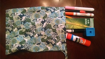 Student Supply Bags- Fabric / Drawstring