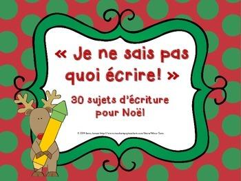 30 Sujets d'écriture pour Noël - 30 Christmas-themed writi