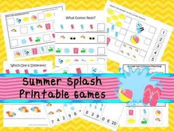 30 Summer Splash Games Download. Games and Activities in PDF files.