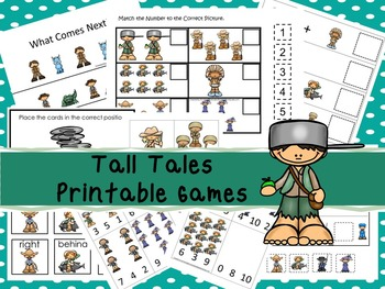 30 Tall Tales Games Download. Games and Activities in PDF files.