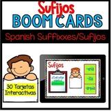 30 Tarjetas Interactivas sobre Sufijos Spanish Prefix Boom Cards