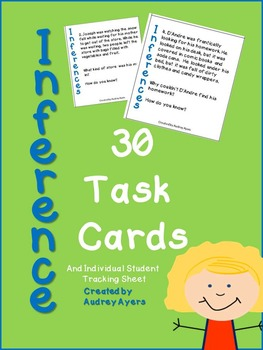 INFERENCE Task Cards--30 Cards--Literacy Ideas, Reading, C