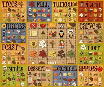 30 Thanksgiving Bingo Cards