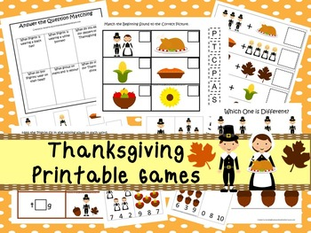 30 Thanksgiving Games Download. Games and Activities in PDF files.