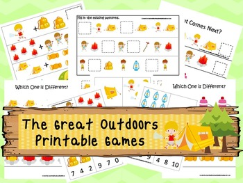 30 The Great Outdoors Games Download. Games and Activities in PDF files.