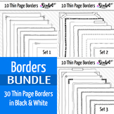 30 Thin Page Frame Borders ~ Money Saving Bundle