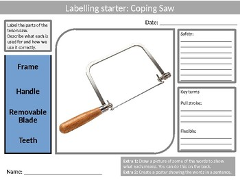 30 Tools Tool Labellers Design Technology Tools Food Keyword Starters Activities