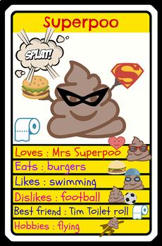 30 Top Trumps style reward cards - GREAT FUN !! - Ideal behaviour management.