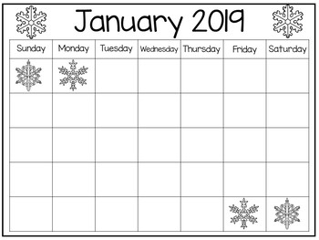 30 Tracing and Blank Themed Calendars. Preschool Handwriting and Numbers.