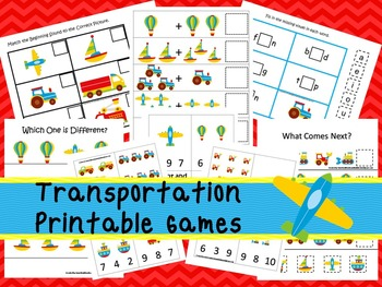30 Transportation Games Download. Games and Activities in PDF files.