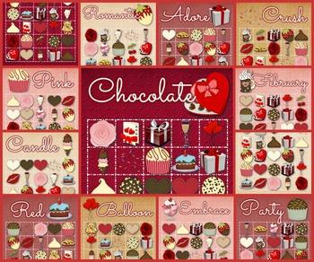 30 Valentine Bingo Cards