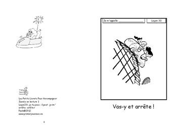 30) Vas-y et arrête - livret de lecture ENFANT C1 1ère-2e