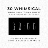 30 WHIMSICAL (B) Video Countdown Timers - For PowerPoint,