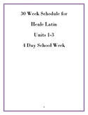 30 Week Schedule for Henle Latin Book 1