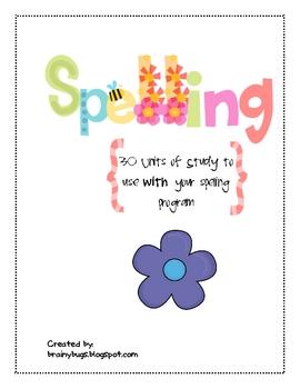 30 Week Spelling Homework