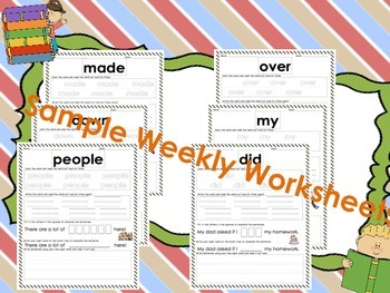 First 100 Sitton Sight Word Worksheets K - 2 Ready to Print!