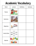 30 Weeks of Academic Vocabulary + Connect Four Review Games