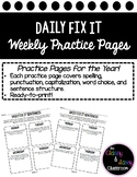 Daily Fix It Sentences For the Whole Year