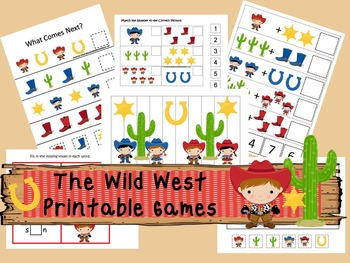 30 Wild West Games Download. Games and Activities in PDF files.