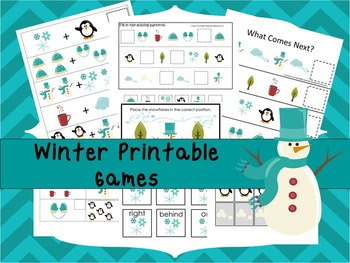 30 Winter Wonderland Games Download. Games and Activities in PDF files.