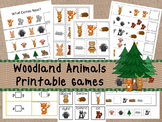 30 Woodland Animals Games Download. Games and Activities in PDF files.