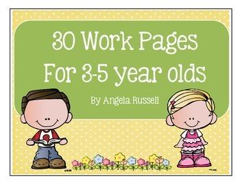 Preschool Work Pages ~ 30 Total