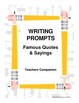 30 Writing Prompts: Popular Phrases and Sayings