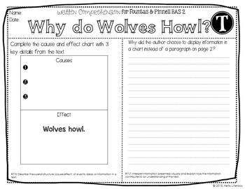 30 Written Comprehension Assessments aligned to F&P BAS Kit 2