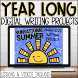 30 Year Long Google Slides Writing Videos and Lessons GROW