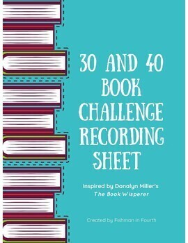 30 and 40 Book Challenge Recording Sheets
